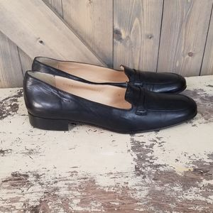 Cole Haan Leather Black Loafers 8 AA